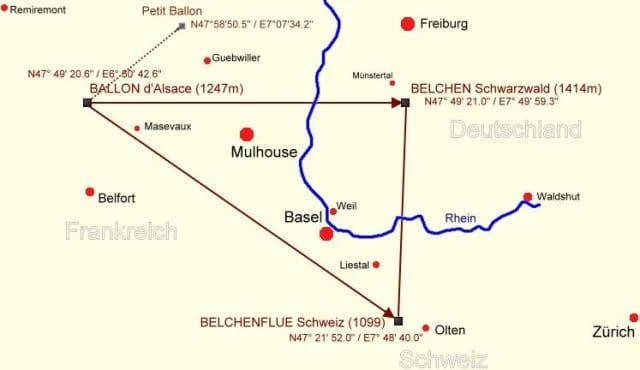 kraftorte deutschland karte Das Belchendreieck   mystische Kraftorte   Lucky Ways kraftorte deutschland karte