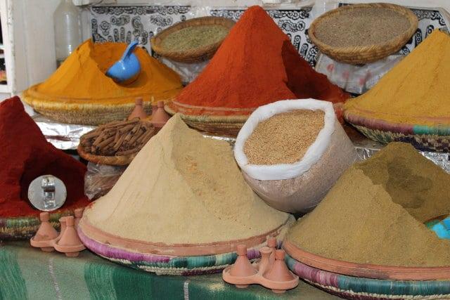 Marokko 0 - Gewürzmarkt Marrakesch