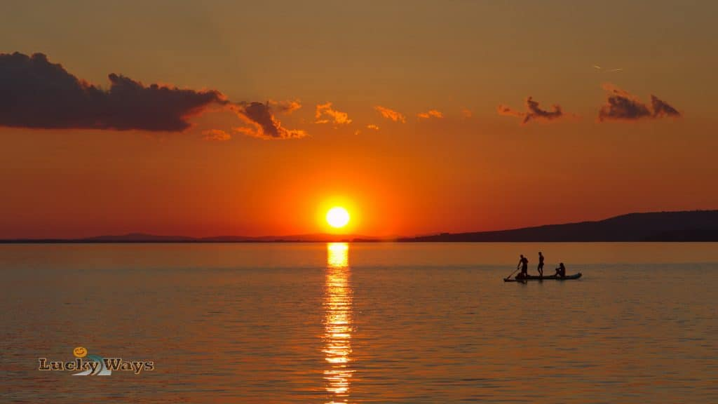 Lake Lago Trasimeno Umbrien Sunset in San Feliciano