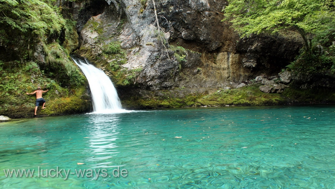 Albanien Theti Nationalpark Blue eye