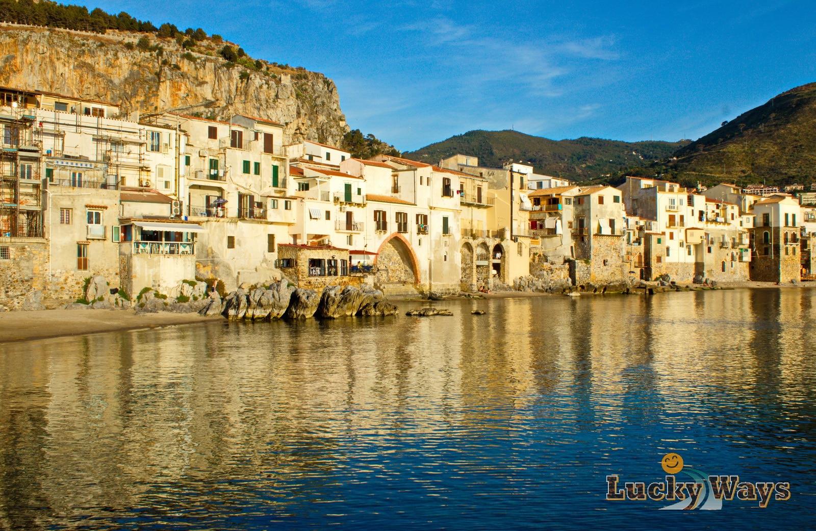 Italien Sizilien, Teil 4 Cefalù - Strandpanorama