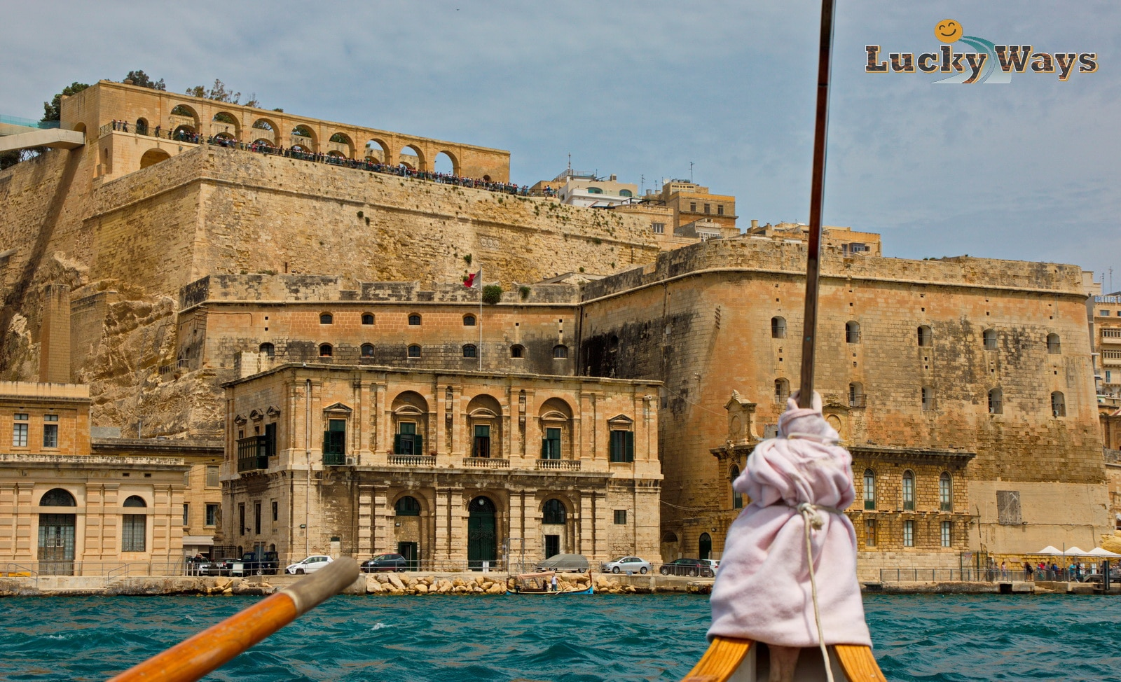 Malta Valletta Blick auf Barrakka Gardens